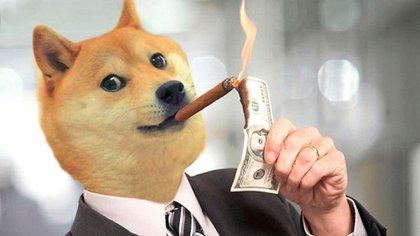 Uno de los tantos memes que circulan en las redes sobre dogecoin