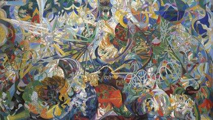 """Batalla de luces, Coney Island"" (1914) de Joseph Stella"