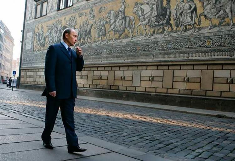 Ya como presidente de Rusia, Vladimir Putin regresó a Dresde en visita oficial. (AFP)