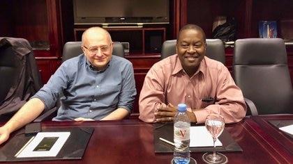 Roberto Cardarelli y Trevor Alleyne, del FMI, en Buenos Aires