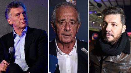 Rodolfo D'Onofrio y Marcelo Tinelli, en contra de la designación de Mauricio Macri como presidente de la Fundación FIFA (Foto: Nicolás Stulberg)
