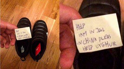 La nota hallada en una zapatilla
