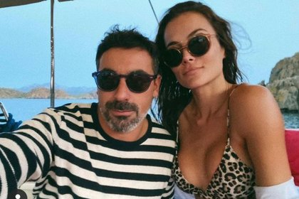Pocho Lavezzi y Natalia Borges
