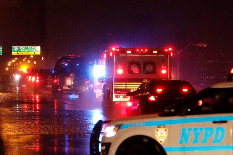 """El operativo de seguridad para trasladar a """"El Chapo"""" a la Corte en Nueva York (Foto: Reuters/Mike Segar)"""