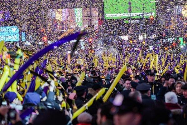 La celebración en Times Square en Manhattan (REUTERS/Jeenah Moon)