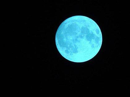 A lo largo de la historia, la Luna se ha teñido en distintas ocasiones de azul (Foto: Archivo)