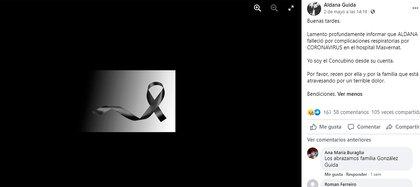 Aldana Güida falleció en el Hospital Masvernat el domingo 2 de mayo