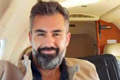 Aníbal Raúl Arrarte Artigalas, en un avión privado (captura de TV)
