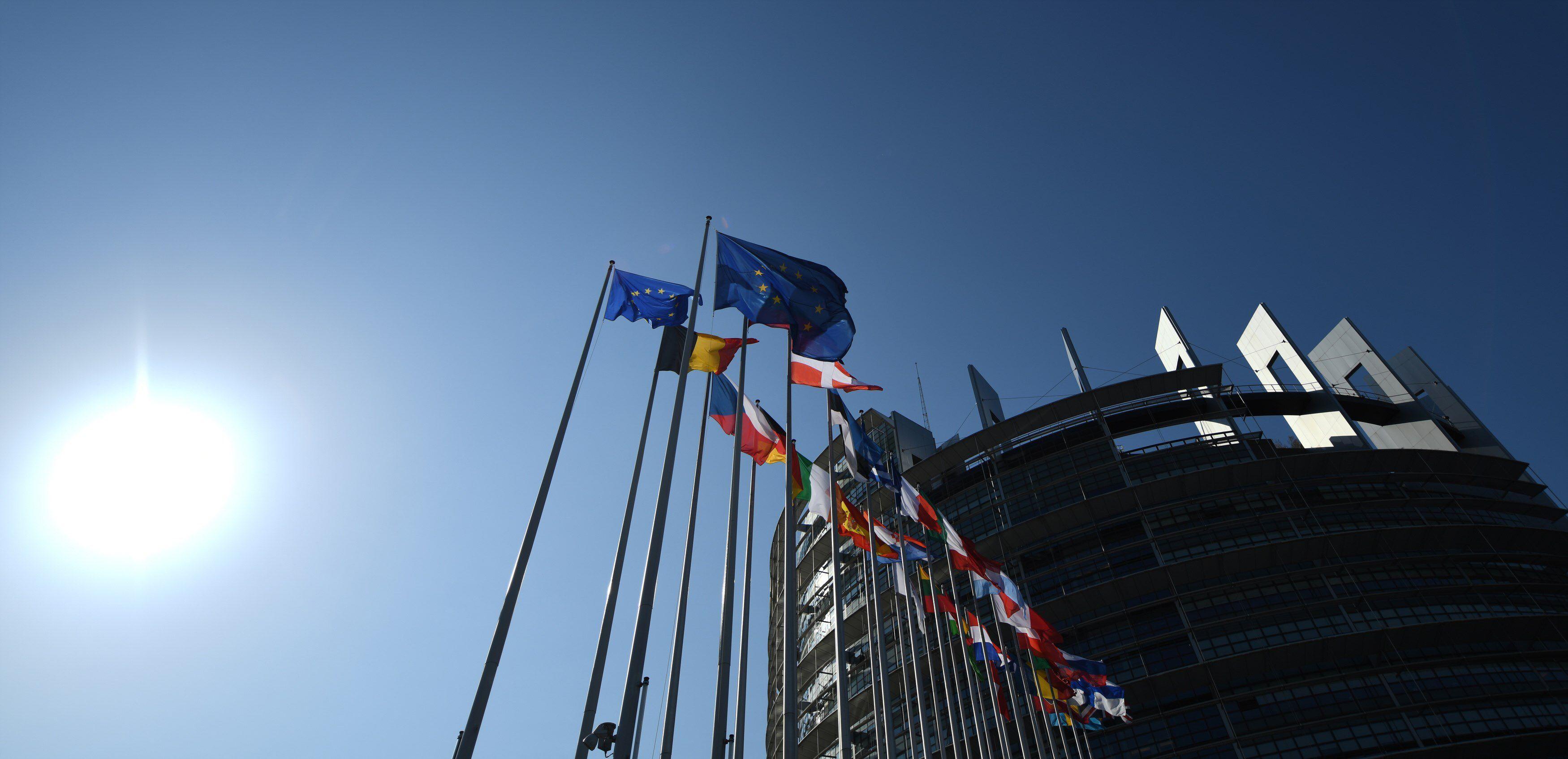 Vista exterior del Parlamento Europeo. EFE/ Patrick Seeger/Archivo