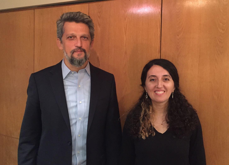 Garó Paylán y Ebru Günay, legisladores del HDP turco