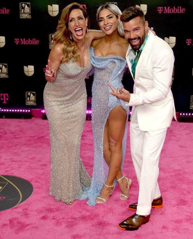 Lili Estefan, Alejandra Espinosa y Richy Martin (Foto: Instagram@univision)
