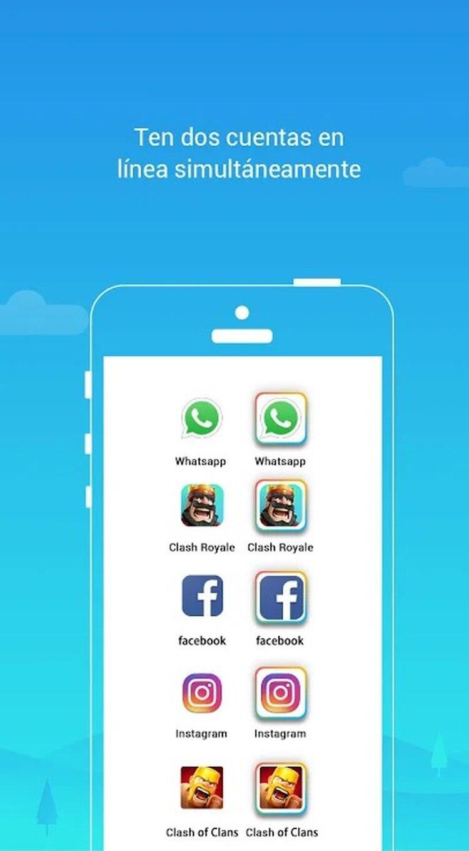 La app permite duplicar diferentes servicios.