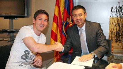 Messi y Bartomeu, en tiempos de mejor entendimiento (EFE)