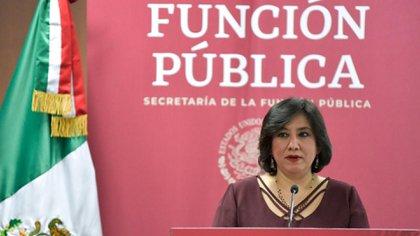 Sandoval, de la Secretaría de la Función Pública, fue la primera ministra del gabinete de AMLO en dar positivo a COVID-19 (Foto: Archivo)