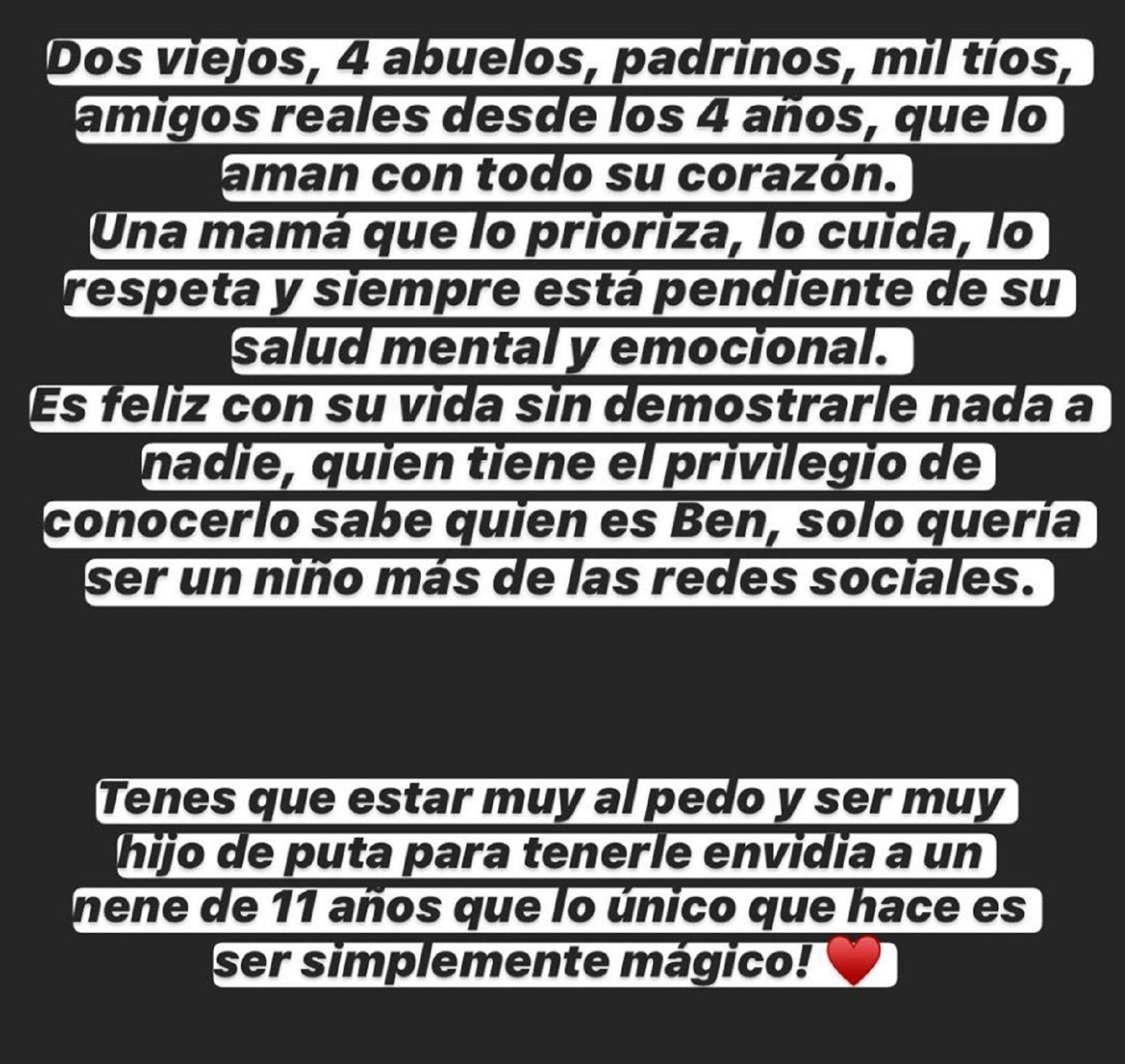 gianinna maradona instagram benjamin aguero
