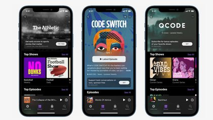 Se presentó un nuevo diseño de Apple podcasts en el evento Spring Loaded