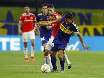 La última serie de Boca ante equipos brasileños fue ante Inter en la actual edición: y ganó (REUTERS/Agustin Marcarian)