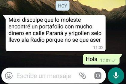 El mensaje que envió José a Maxi, el conductor de la radio local