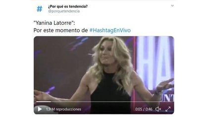 Yanina Latorre fue tendencia en las redes por sus declaraciones sobre la infidelidad de su marido (Foto: Twitter)