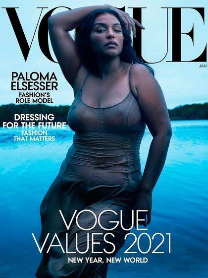 """La tapa de Vogue USA de enero 2021 fue Paloma la protagonista donde decía """"nuevo año, nuevo mundo"""""""