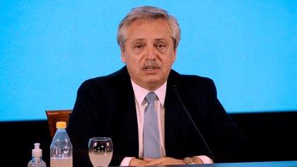 El presidente Alberto Fernández, uno de los testigos del juicio