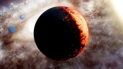 Interpretación artística de TOI-561, uno de los sistemas planetarios más antiguos y pobres en metales descubierto hasta ahora en la Vía Láctea. (Crédito: Observatorio WM Keck / Adam Makarenko)