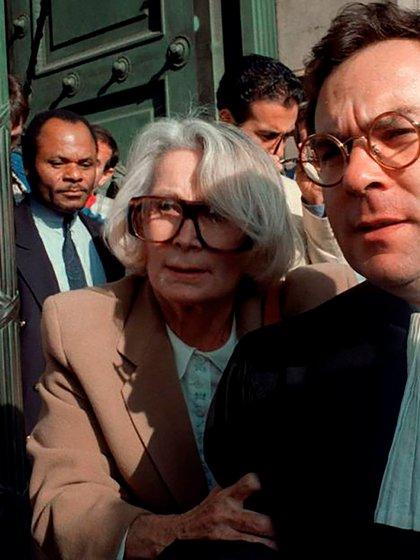 Madame Claude en su final. Fue juzgada dos veces: la primera por evasión impositiva y, años después, condenada a seis meses de prisión por proxenetismo (AFP)