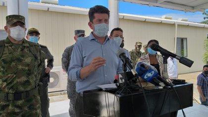 Ministro de defensa, Diego Molano anuncia recompensas por información de los cabecillas de los GAOR Los Contadores y Oliver Sinisterra. / Ministerio de Defensa