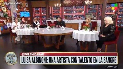 """La mujeres de """"Polémica en el bar"""" elogiaron a Luisa Albinoni, tras su debut en el """"Cantando 2020"""""""