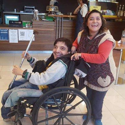 María Estela y su amigo Martín