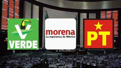 Morena formalizó su alianza con el PT y el Partido Verde para mantener la mayoría de la Cámara de Diputados en las elecciones de 2021 (Fotoarte: Steve Allen/ Infobae México)