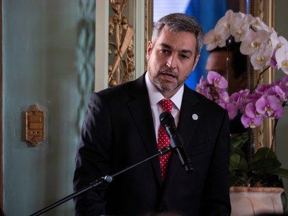 El presidente de Paraguay, Mario Abdo Benítez. EFE/ Martín Crespo/Archivo
