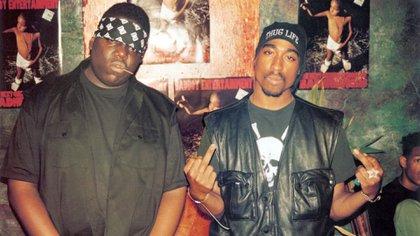 Biggie y Tupac (Foto: Four/Lafayette/Kobal/Shutterstock)