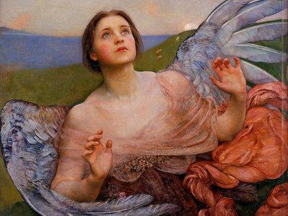 """""""El sentido de la vista"""", de Annie Swynnerton (1895)"""