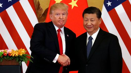 Donald Trump y el presidente chino Xi Jinping, cuyo país ha estado en la mira del republicano precisamente por la favorable balanza comercial que posee con los Estados Unidos