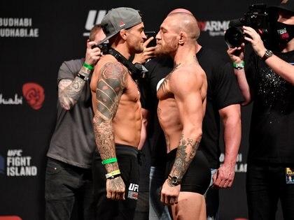 McGregor y Poirier van a disputar el tercer enfrentamiento entre ambos (Usa Today Sports)