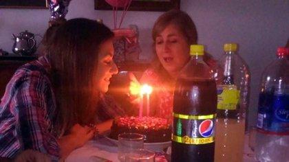 Pilar Riesco en su último cumpleaños