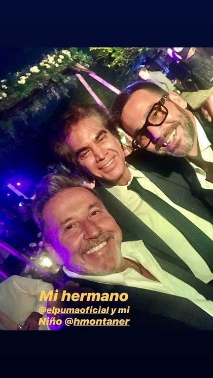 """Montaner se mostró con el """"Puma"""" Rodríguez, invitado a la boda de Evaluna (Instagram)"""