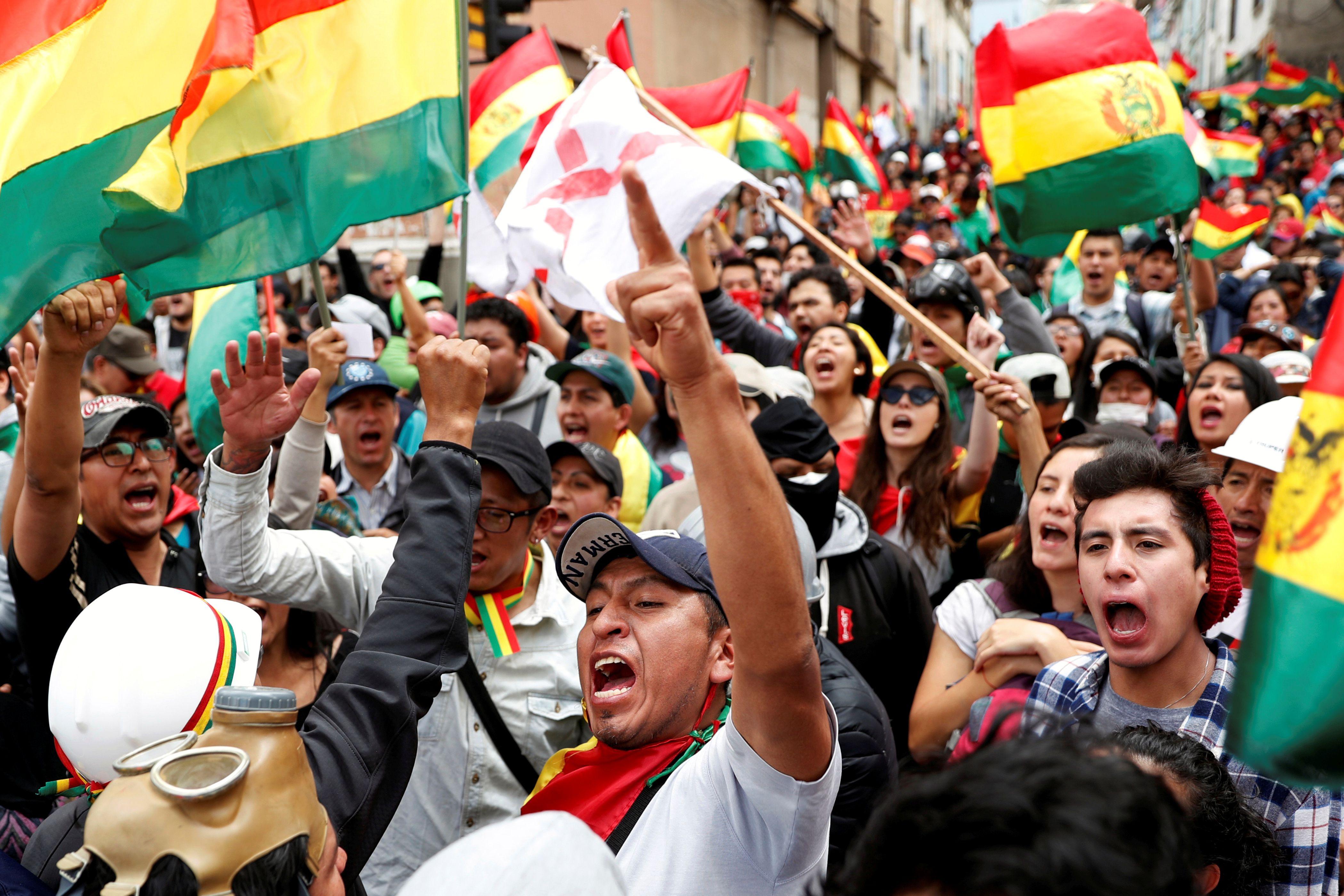 Protestas en Bolivia. (REUTERS/Carlos Garcia Rawlins)
