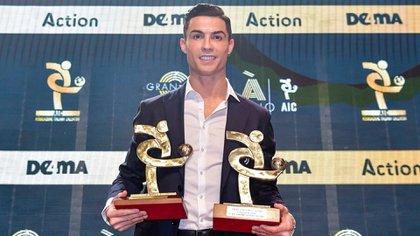 Cristiano Ronaldo fue elegido mejor delantero y MVP