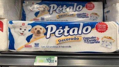 Pétalo ha estado en el mercado mexicano por más de seis décadas, con papel higiénico, servilletas y otros productos (Foto: Twitter/CalebMX)