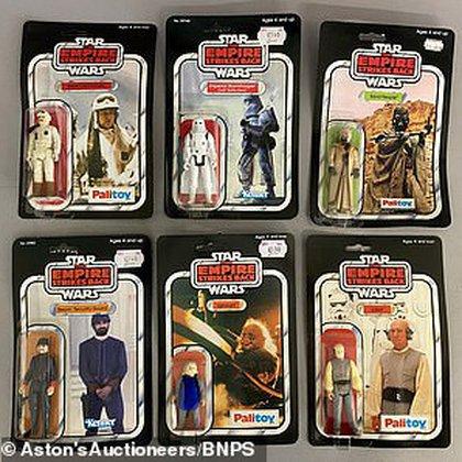 Un juego de 6 figuras de acción de Empire Strikes Back Star Wars se vendió por USD 10.870. Crédito: The Daily Mail