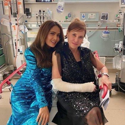 Salma Hayek terminó su velada en la sala de emergencia del Centro Médico Cedars-Sinai (Foto: Instagram)