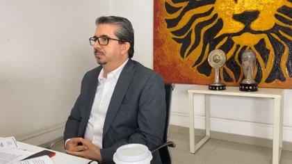 Alberto Castellanos, presidente de Leones Negros, siempre apoyó al jugador (Foto: Cortesía/ Leones Negros)
