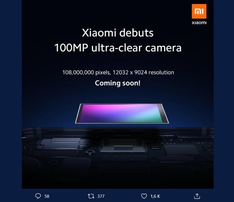 La compañía anunció que sacará una cámara con un sensor de 108 MP de resolución.