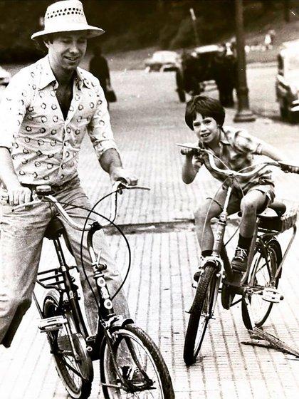 Una de las imágenes que publicó Gastón Portal junto a su padre (Foto: Instagram @gastonportal7)