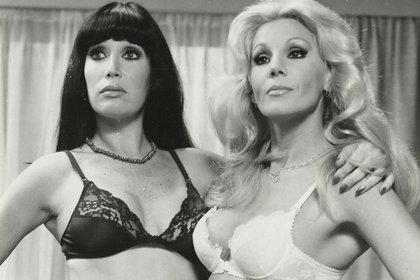 Moria y Susana en una foto de los '80