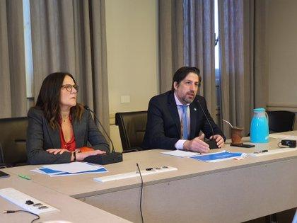 Gabriela Diker, secretaria de Evaluación, y Nicolás Trotta, ministro de Educación