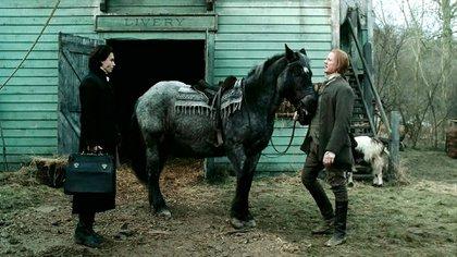 Johnny deep y Goldeneye, el caballo que adoptó