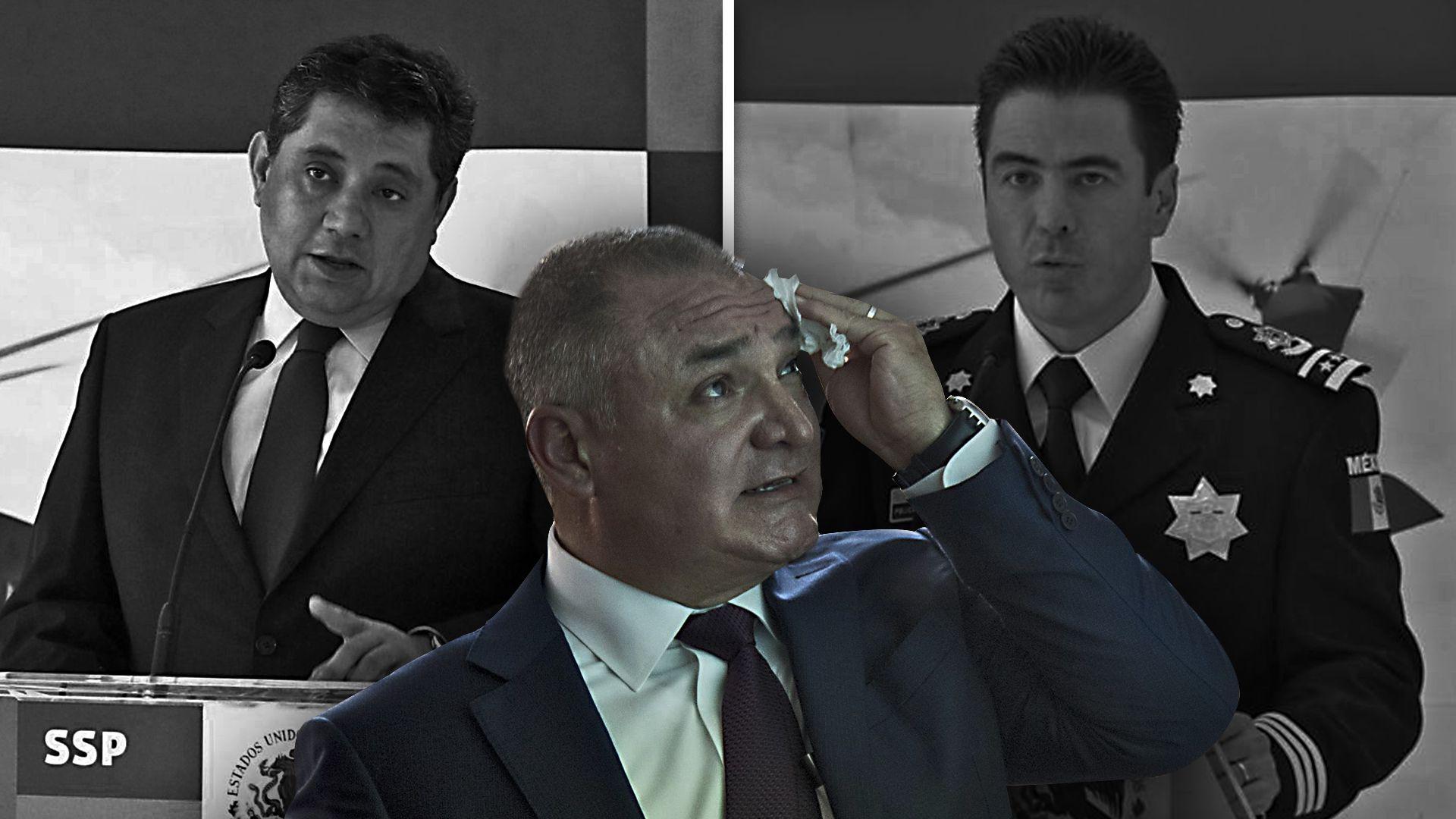 Ramón Pequeño García (izquierda), Genaro García Luna (centro) y Cárdenas Palomino (derecha)  (Foto: Especial)